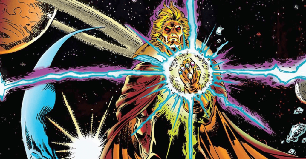 Adama Warlock im Universum